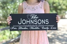 Personalized Family Sign 1 - Morgann Hill Designs