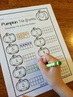 Pumpkin ten frames! 'Save your ink' printables!!