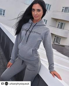 #Repost @urbanphysiqueuk with @repostapp  Urban Loungewear  This recently release Grey 2 Piece is an absolute wardrobe essential. Rocked by @lucygann #UrbanPhysique #TeamUrban