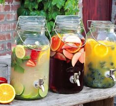 If you're thinking of setting out hydration stations at your summer wedding wedding, here are a few options that will not only serve up yummy liquids, but will match your wedding decor -- from vintage-style to nerdy and gothic.
