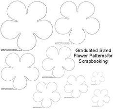 DIY flower tempelate - Google Search