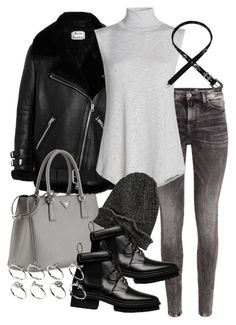 """Untitled #1730"" by mariie00h ❤ liked on Polyvore featuring H&M, Acne Studios, NIC+ZOE, Prada, Element, Balenciaga and ASOS"