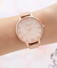 Apple Watch Discover Olivia Burton Rose Quartz Dial Watch Jewelry & Accessories - Watches - All Watches - Bloomingdales Trendy Watches, Sport Watches, Cool Watches, Watches For Men, Cheap Watches, Women's Watches, Rose Gold Watches, Gold Watches Women, Watches Online