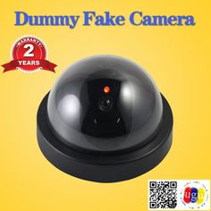 Dummy Emulational Camera Fake CCTV Camera Dome Indoor Outdoor For Home Security Camera With Flash LED Cctv Security Systems, Stop Working, Security Cameras For Home, Button Crafts, Brown Wood, Indoor Outdoor, Led, Inside Outside