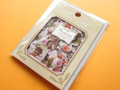 Classic Sticker Flakes Sack Antique Booklatte *Tea Time Q-LiA (71402)