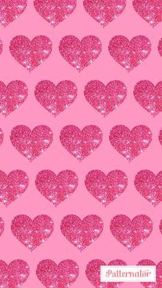 Pink heart glitter wallpaper iPhone