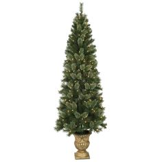 7 ft Pre-Lit Cashmere Potted Christmas Tree with 250 Clear Lights - At Home