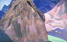 Giants of Lahaul - Nicholas Roerich 1931 Nicholas Roerich, Survival, Artist, Painting, Landscapes, Mountain, Interior Design, The Secret, Paintings