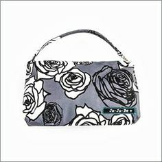 Ju-Ju-Be Be Quick in Charcoal Roses carries mama's things. Wallet, coin purse, cosmetics, etc.