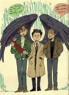 "Mama Cas, looking after her boys. X""D @HectorAframian @foxlairsaegis56 @destielenthusia @caity1926 @mjellsey55 @10ismydoc"
