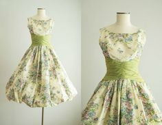 vintage 1950s dress / 50s Betty Draper by HungryHeartVintage