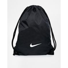 6395bbaf905a0f Nike Gymsack in Black ( 8.37) ❤ liked on Polyvore featuring bags