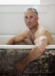 Silver Daddy in tub