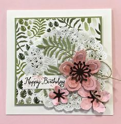 distINKtive STAMPING designs: Celebrating Botanical Blooms Birthday Card and Sale A Bration at Stampin Up