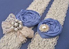something blue. vintage garters.