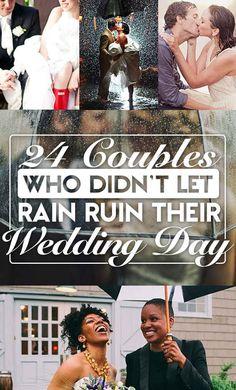 24 Casais que souberam aproveitar o casamento - mesmo com chuva! :-D <3 #inspiração #casamento