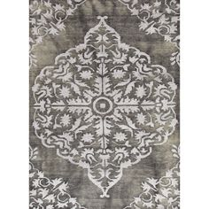 Heritage Collection Chantilly Rug in Ebony & Cloudburst by Jaipur