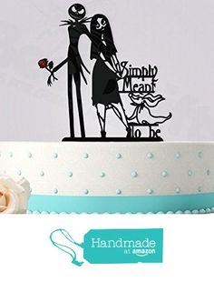Jack and Sally Simply Meant To Be Red Rose Wedding Cake Topper from Bee3DGifts https://www.amazon.com/dp/B01C6DO9BY/ref=hnd_sw_r_pi_dp_2aNMxb7G38JR0 #handmadeatamazon