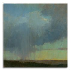 Gallery Direct Print by Kim Coulter 'Cloudburst' on Birchwood Wall Art by…