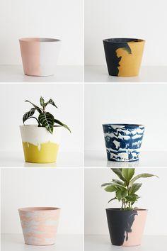Capra Designs eco water-based resin planters.