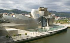 20 famous buildings to inspire you creatively....by Frank Gehry....Guggenheim Museum, Bilbao, Spain