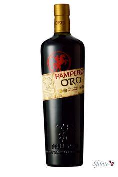 Pampero Oro, ron añejo, botella edición italiana.