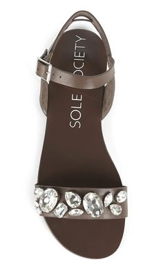 slingback sandals bejeweled with rhinestones
