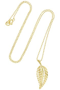 JENNIFER MEYER 18-karat gold leaf necklace 1,375 USD