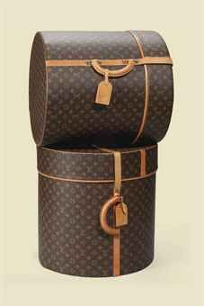 Louis Vuitton, Late 20th, Early 21st Century. A Pair of Large Hat Boxes in Monogram Canvas