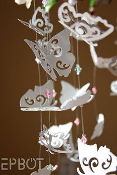 DIY Butterfly Mobile. This is stunning!