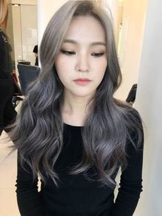 Cute Ash Brown Hair Color For Asian