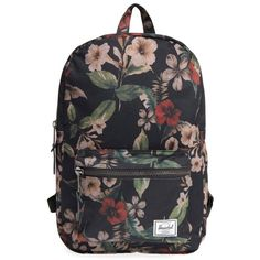 Herschel Supply Co. 'Settlement Mid Volume' Backpack (80 CAD) ❤ liked on Polyvore featuring bags, backpacks, hawaiian camo, lightweight daypack, tablet backpack, floral print backpack, flower print backpack and floral backpack