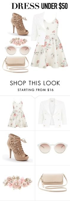 """""""Untitled #247"""" by devilznotangelz ❤ liked on Polyvore featuring New Look, Relish, Apt. 9, self-portrait, Accessorize, Charlotte Russe and Dressunder50"""