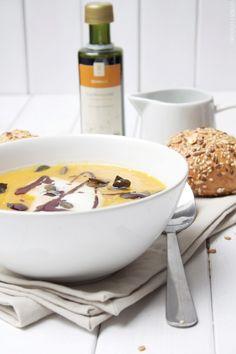 Pumpkin Seed Oil, Soup Kitchen, Sweet Potato Soup, Dessert Recipes, Desserts, Cheeseburger Chowder, Food Inspiration, Potatoes, Cooking