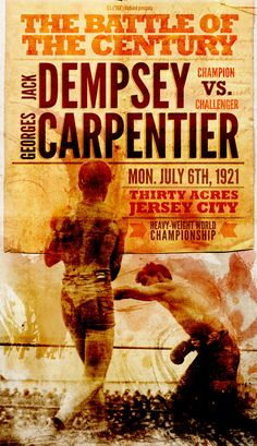 Cool Boxing Poster....the only sport my husband likes to watch on tv.
