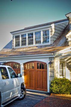 Wood Garage Doors + Shed Dormer.