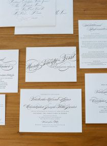 can't go wrong with calligraphy invites!    www.sarahelizabethevents.com