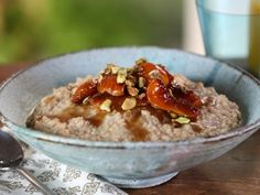 Lightly Toasted Overnight Steel-Cut Oatmeal with Honey-Roasted Apricots and Pistachios