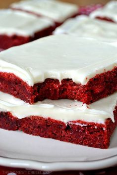 Maria's Mixing Bowl | SOFT & CHEWY RED VELVET BROWNIES WITH CREAM CHEESE FROSTING