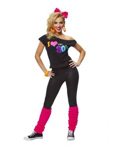 The 80's Halloween Costume for Teen Girls and Women