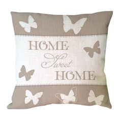 letter sweet home with butterfly printed custom throw pillow case decorative cotton linen vintage luxury cushion covers
