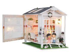 Wooden Handmade Dollhouse Miniature DIY Kit -Lovely romantic Villa & Furniture  DOLLS HOUSE