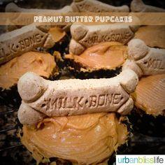 Peanut Butter Pupcake Recipe - homemade dog cupcakes