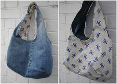 Denim Do Over | Reversible Denim Bag Made From Recycled Jeans | http://www.denimdoover.com