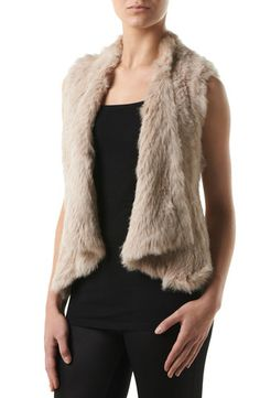 Ane - Fur vest exclusive vest made by soft rabbit, silver fox and raccoon fur