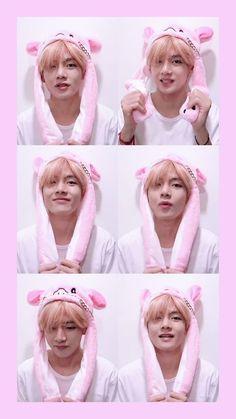 This makes my heart uwu stay soft Bts Taehyung, Kookie Bts, Kim Namjoon, Bts Bangtan Boy, Foto Bts, Taekook, Bts Kim, V Bts Wallpaper, Bunny Hat