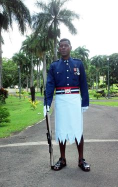 Fijian guard at the Government Building Complex in Suva
