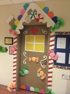 ginger bread house door decoration
