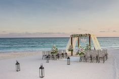 Lantern Beach Wedding Décor