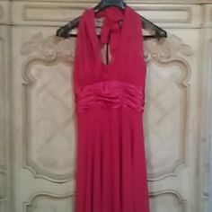Long Red Dress Connected size 10 Beautiful longer style red dress... Can be worn for several occasions... 100% polyester Connected Dresses Backless